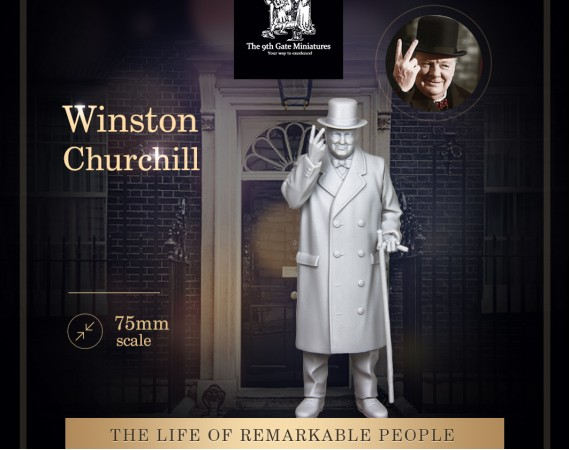 Winston Churchill 75mm Figure