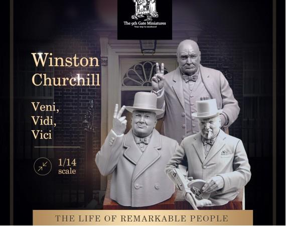 Winston Churchill 3 Busts
