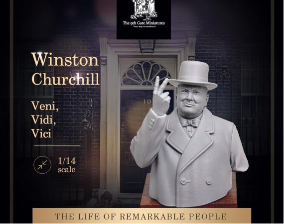 "Winston Churchill Bust ""Veni"""