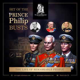 3 Busts of the Prince Phillip