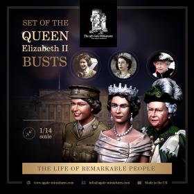 3 Busts of the Queen