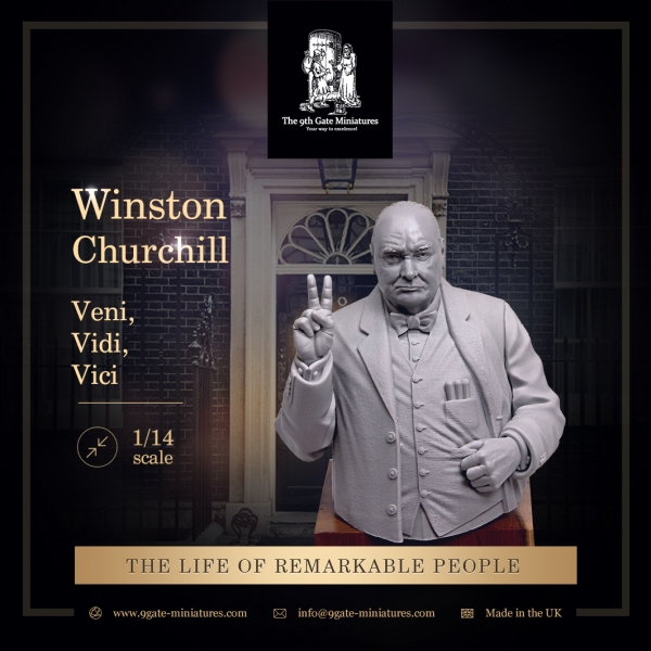 "Winston Churchill Bust ""Vici"""