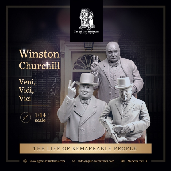 Winston Churchill 3 Busts